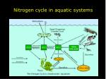nitrogen cycle in aquatic systems