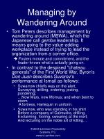 managing by wandering around