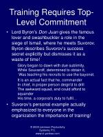 training requires top level commitment