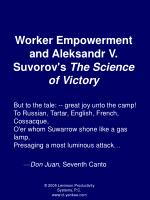 worker empowerment and aleksandr v suvorov s the science of victory