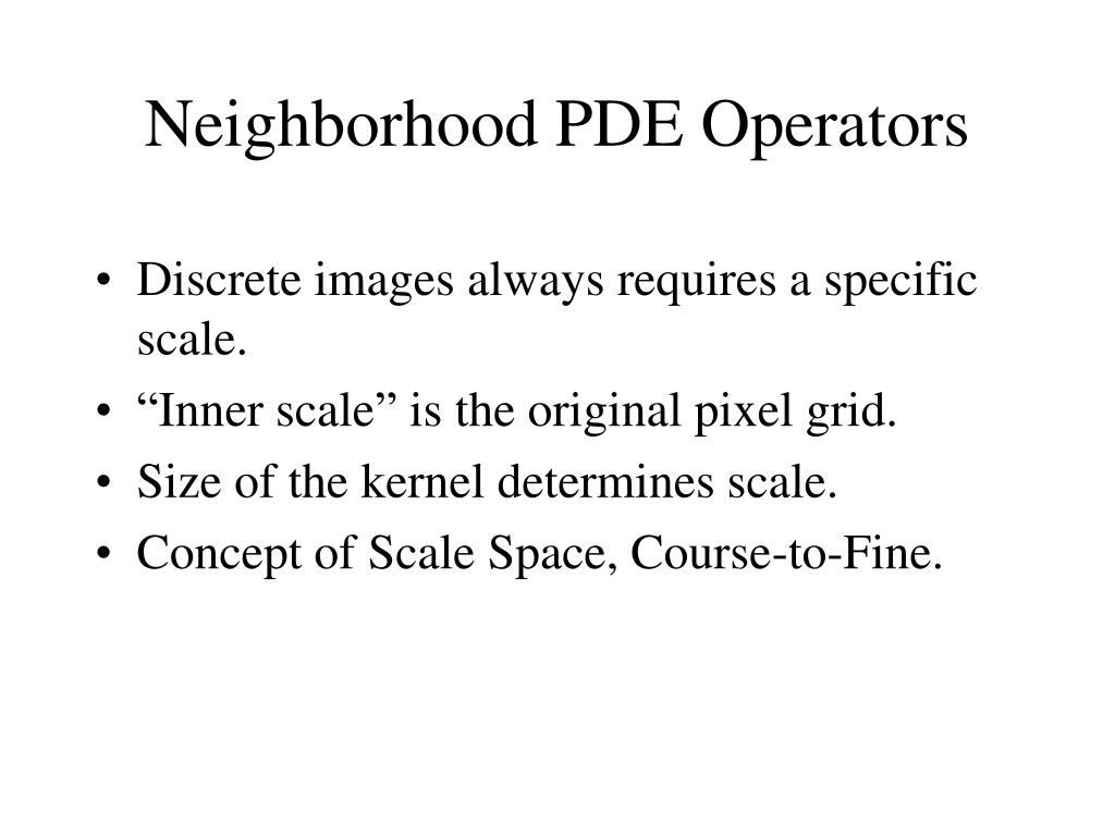 Discrete images always requires a specific scale.