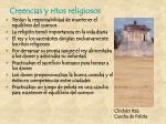 creencias y ritos religiosos