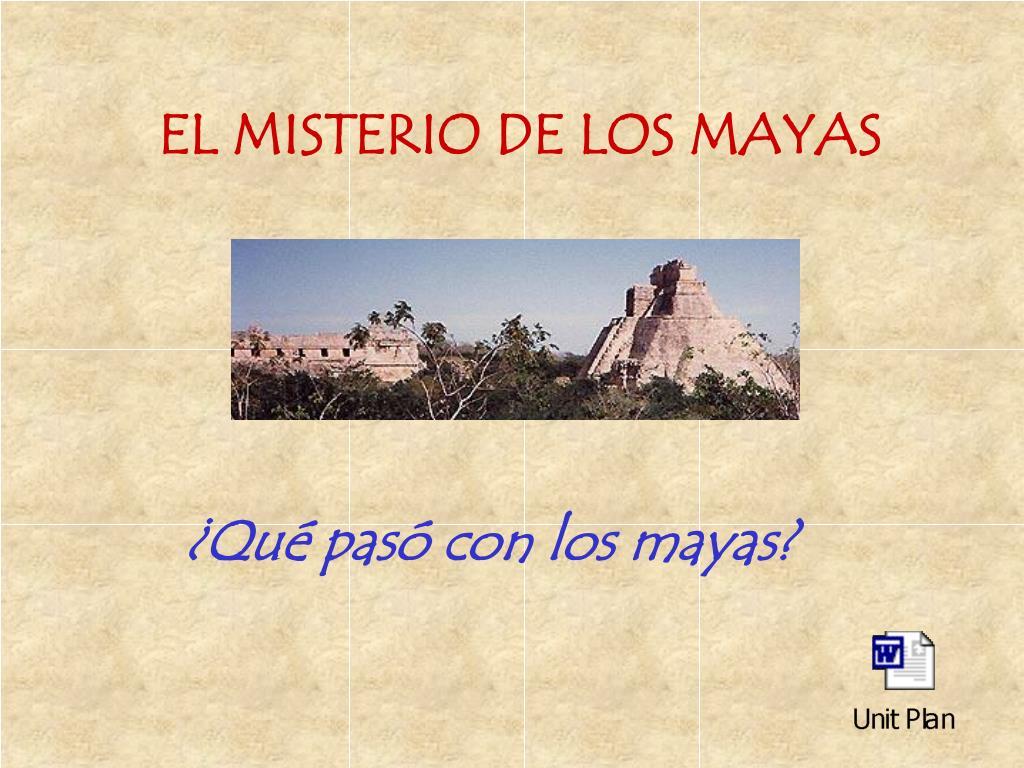 el misterio de los mayas l.