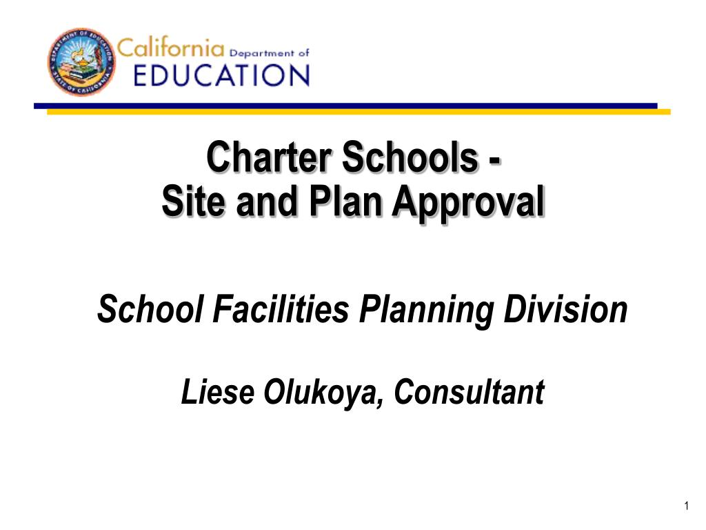 charter schools site and plan approval l.