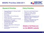 bbsrc priorities 2008 2011