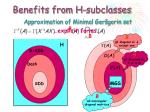 benefits from h subclasses