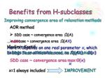 benefits from h subclasses8