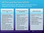 all this and the new msdn