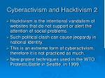 cyberactivism and hacktivism 2