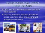 transportation other professions