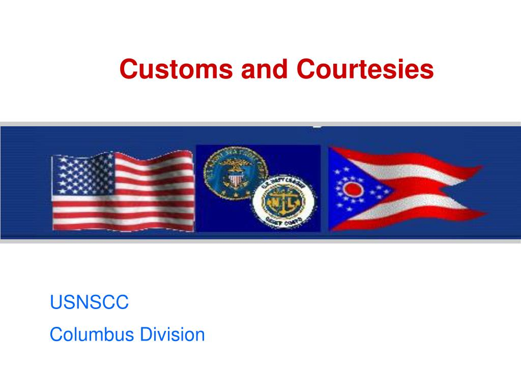 customs and courtesies l.