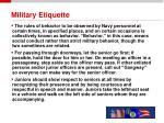 military etiquette