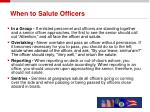 when to salute officers