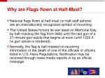 why are flags flown at half mast