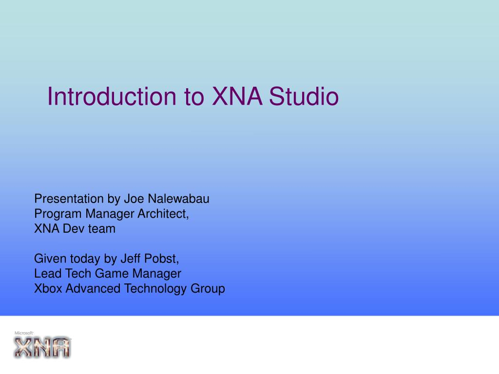introduction to xna studio l.