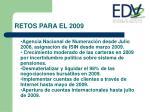 retos para el 2009