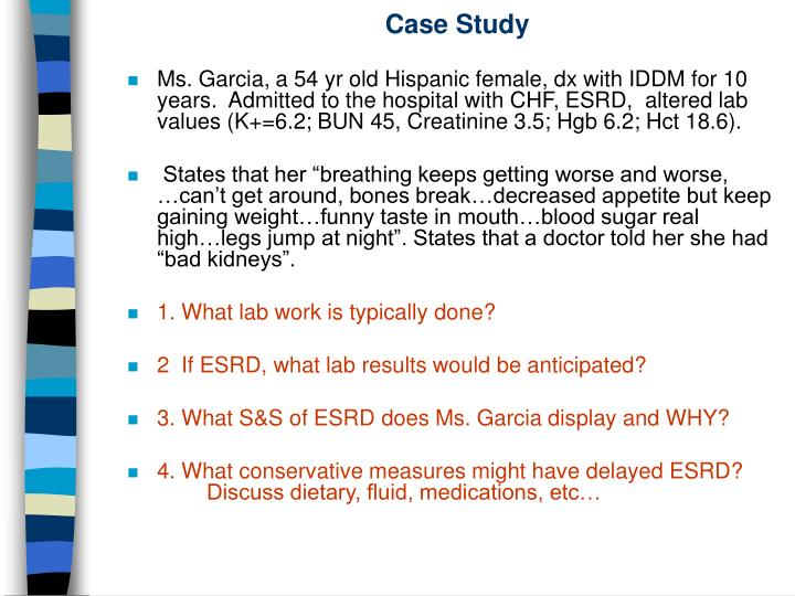 Ppt Case Study Renal Failure Powerpoint Presentation Free Download Id 525749