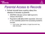 parental access to records31