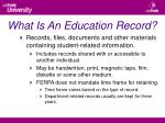 what is an education record