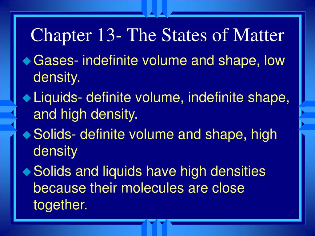 chapter 13 the states of matter l.