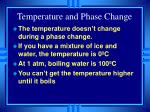 temperature and phase change