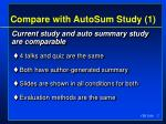 compare with autosum study 1