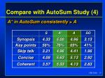 compare with autosum study 4