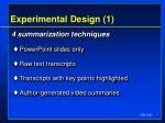 experimental design 1