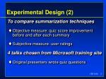 experimental design 2