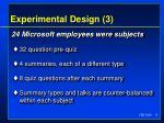 experimental design 3