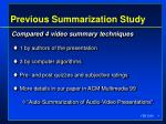 previous summarization study