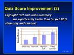 quiz score improvement 3