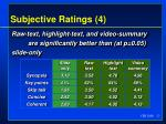 subjective ratings 4