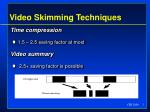 video skimming techniques