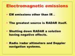 electromagnetic emissions