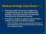 backup strategy case study 1 2