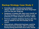 backup strategy case study 2