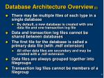 database architecture overview 2