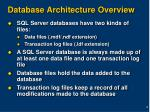 database architecture overview