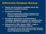 differential database backup