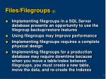 files filegroups 2