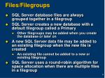 files filegroups
