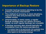 importance of backup restore