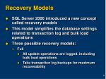 recovery models
