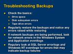 troubleshooting backups