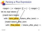 parsing a plus expression
