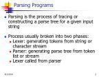 parsing programs