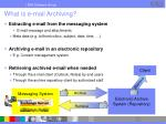 what is e mail archiving