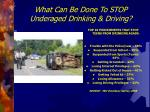 what can be done to stop underaged drinking driving
