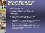 nutrient management technical standard